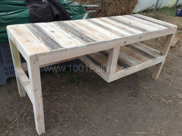 Beautiful Desk With Shelf Out of Five Repurposed Pallets Pallet Desks & Tables