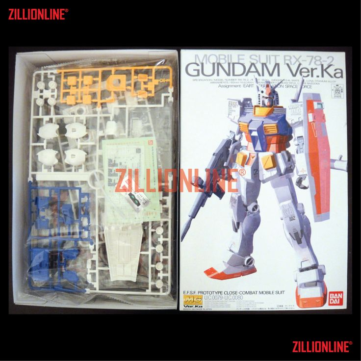 [MODEL-KIT] MG 1/100 - RX-78-2 GUNDAM ( Ver.Ka ). Item Size/Weight : 31 x 20 x 11 cm / 612g* (*ITEM SIZE & WEIGHT BEFORE PACKAGED). Condition: MINT / NEW & SEALED RUNNER. Made by BANDAI.