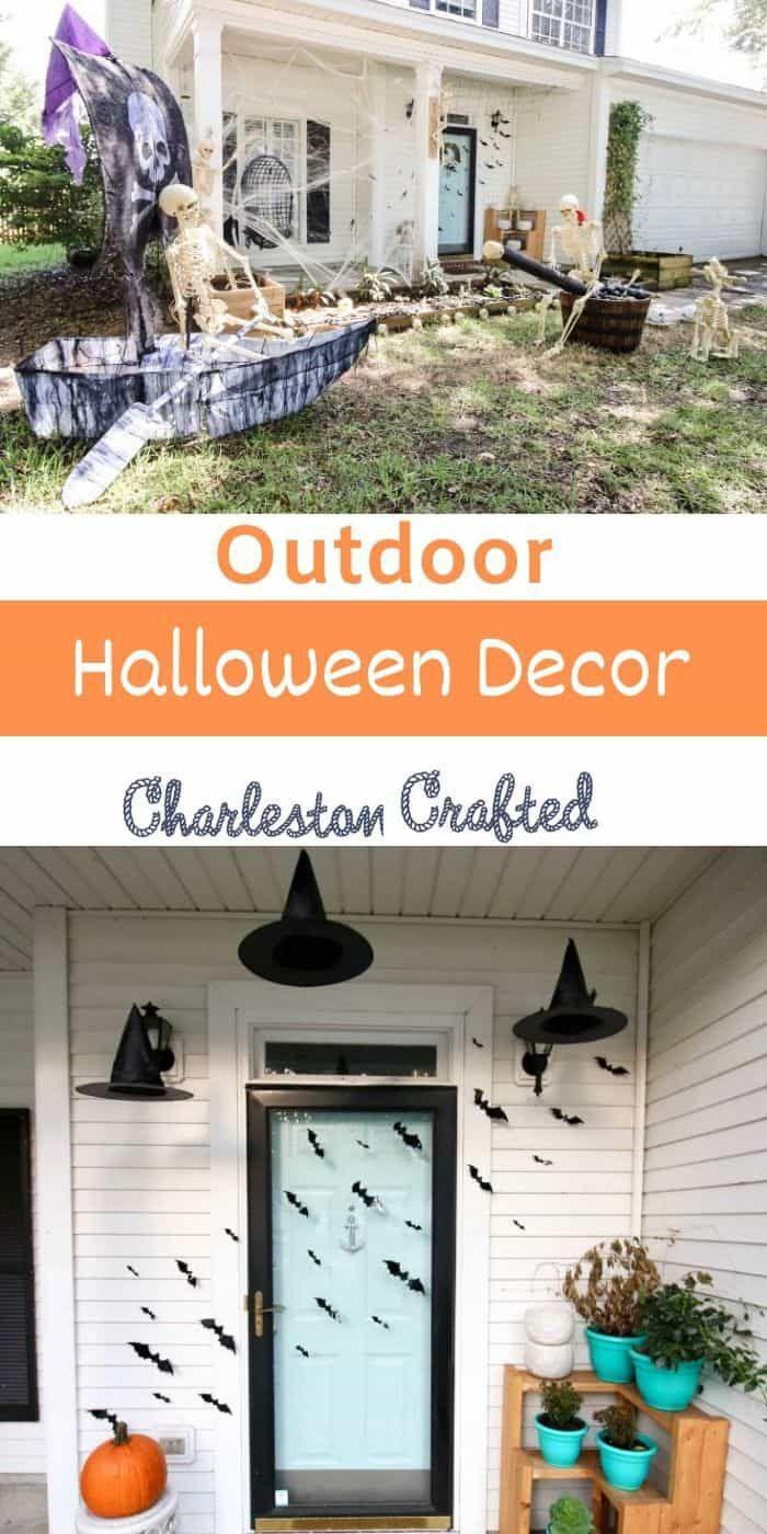 27 Best Outdoor Halloween Decoration Ideas Outdoor Halloween Halloween Outdoor Decorations Halloween Diy Door