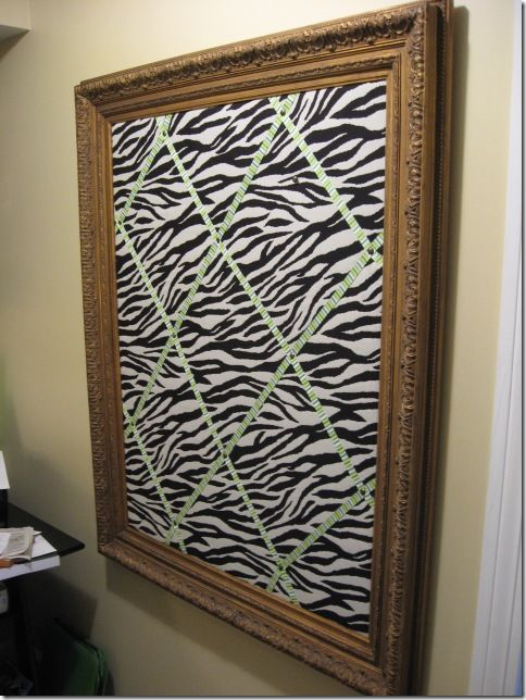 Zebra Bulletin Board...like the idea, gonna make my own and show you all my finished product :o)