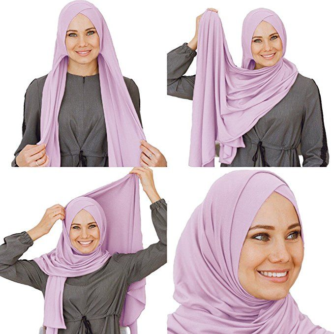0bbcb58ab64de Amazon.com: Cotton head scarf, instant hijab, ready to wear muslim ...