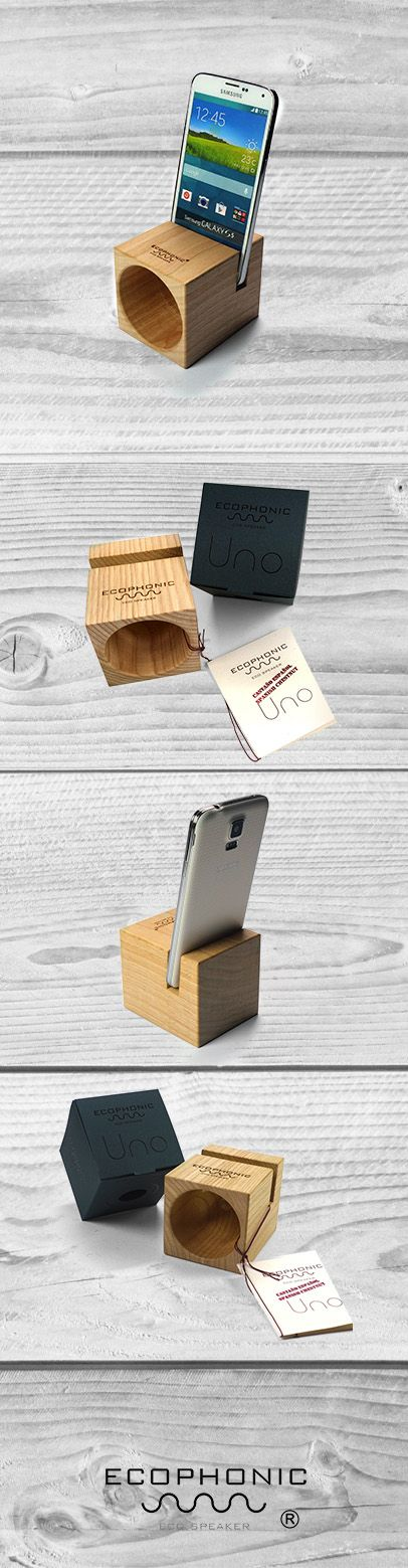 Wireless Ecospeaker for smartphones Designed by Ecophonic   Spanish chesnut
