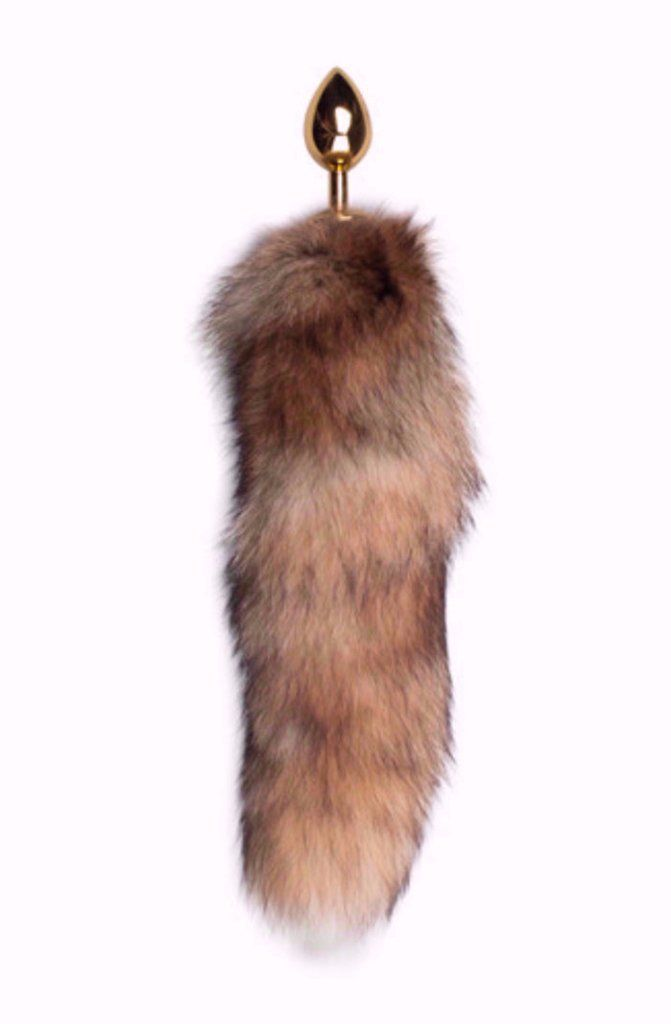 Gold Butt Plug with Fox Tail- Long    £29.99