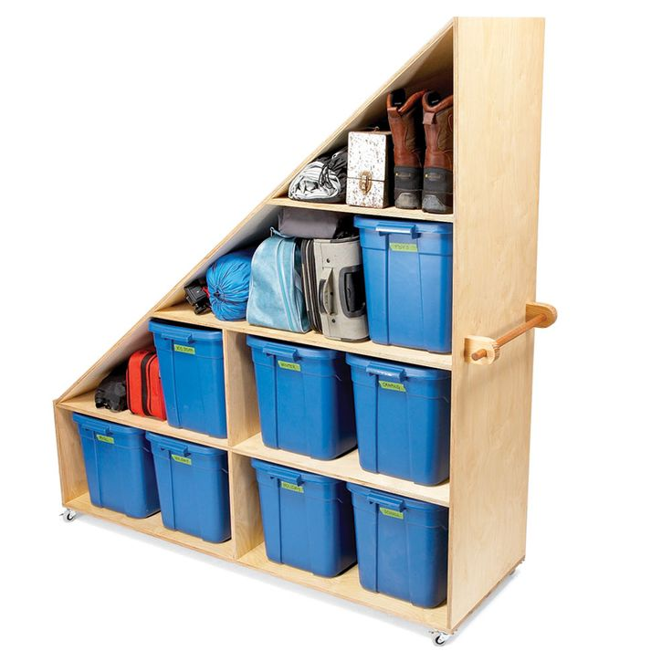 Basement Junk Storage.Use scrap plywood or oriented strand board to make shelves that fit snugly between the corner studs and support them with 1x1 cleats. These corner shelves are perfect for storing smaller items such as glues, oils, waxes and polishes, which get lost on larger shelves.