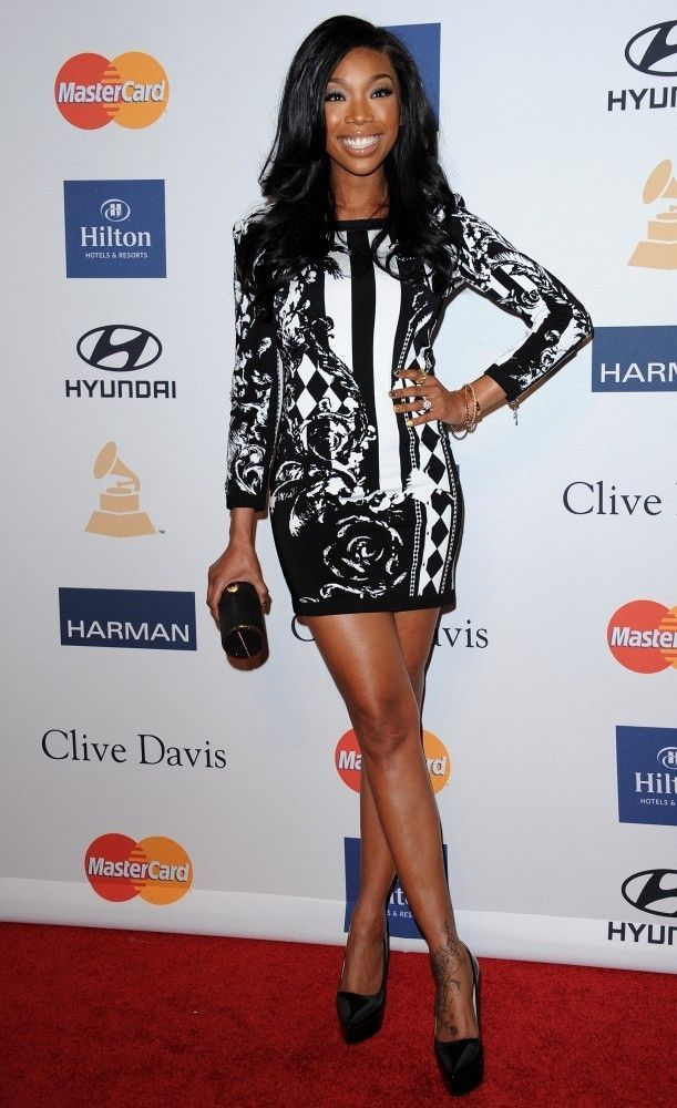 Clive Davis and The Recording Academy's 2013 Pre-GRAMMY Gala..Beverly Hilton Hotel, Beverly Hills, CA..February 9, 2013..Job: 130209A2..(Photo by Axelle Woussen)..Pictured: Brandy Norwood.