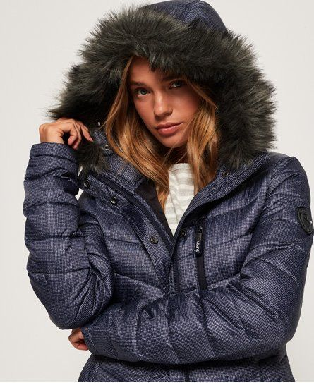 Superdry Chevron Faux Fur Super Fuji Jacket Outfits