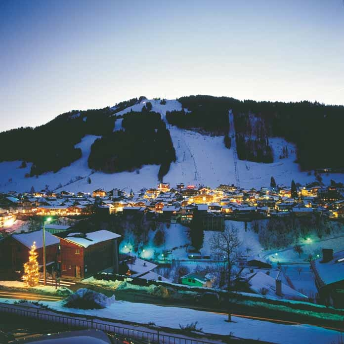 The pretty village of Morzine sits in the middle of 650km of skiing in the Portes du Soleil