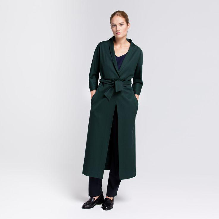 Kioto Coat Green Elementy #kioto #coat #wool #green #kimono #elementy #polishfashion #classic #minimal #simplicity #plaszcz #polskamoda #wełna #minimalizm #aw16