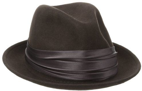 €28, Chapeau en laine brun Stacy Adams. De Amazon.com. Cliquez ici pour plus d'informations: https://lookastic.com/men/shop_items/135219/redirect