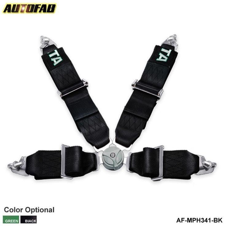 Black/Green -TA original logo /box Seat Belt with 4pcs FIA 2020 Homologation /Harness/ Racing Satefy  /3 inches/4Point AF-MPH341