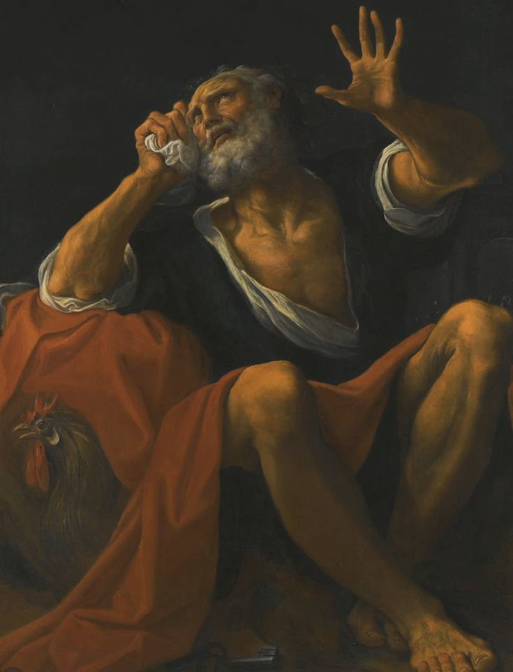 Masterpiece of Art: Lodovico Carracci   The penitent Saint Peter