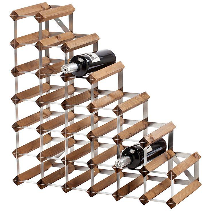 Buy Traditional Wine Rack Co. Dark Wood Wine Rack, 27 Bottle   John Lewis
