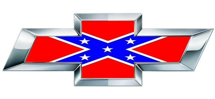 Chevy Rebel Flag Chevy Bowtie Rebel Flag Emblem Overlay