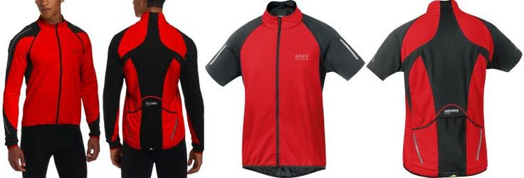 Best Windproof Cycling Jackets: Front and back view of the Gore Bike Wear Men PHANTOM 2.0 WINDSTOPPER Windproof Jacket. This picture also shows the front and back views of this softshell cycling jacket after the removable sleeves have been taken off