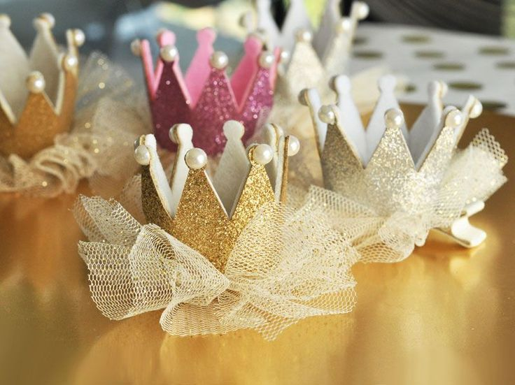 Event Blossom EB3088 Glitter Crown Clips