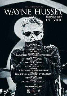 Wayne Hussey EU/UK Tour Event List http://www.musiceternal.com/News/2016/Wayne-Hussey-EU-UK-Tour-Event-List-20160415 #musiceternal #WayneHussey #MissionUK #EventList