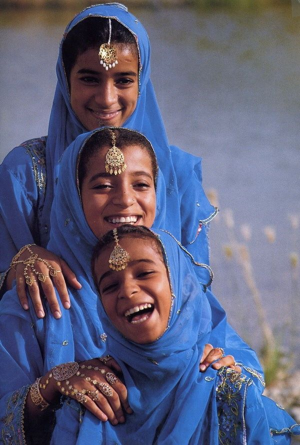 Blue happiness. Such beautiful faces!