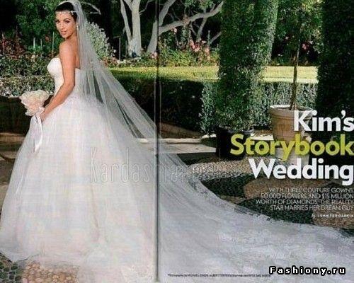 В Сети появились фотографии свадебного платья Ким Кардашян