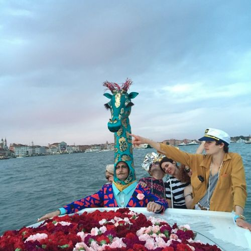 Lucy Folk boat party in Venice, May 2015.