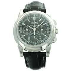 Patek Philippe Platinum Perpetual Calendar Chronograph Wristwatch Ref 5970P