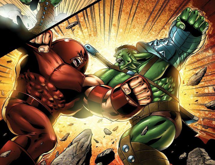 Red Hulk Vs Trion Juggernaut: Hulk Vs Juggernaut