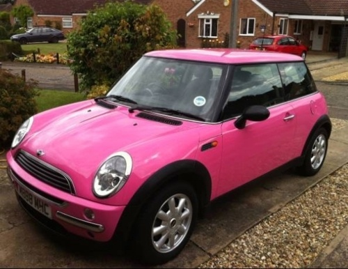 pink mini cooper dream cars pinterest pink mini. Black Bedroom Furniture Sets. Home Design Ideas