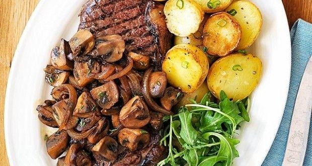 Sautéed Mushrooms and Onions for Steak!