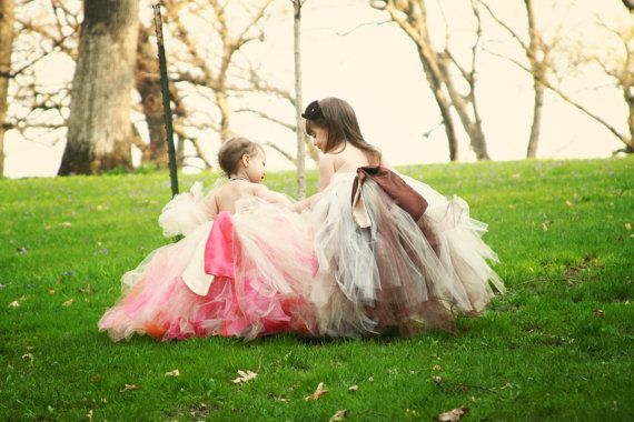 I think a big satin bow in the back is a great way to accessorize it along with somethign coordinating in the hair. @Jennifer TeipenSafe, Little Girls, Flower Girls Dresses, Fall Flowers, Flower Girls Tutu, Tutu Dresses, Chocolates Brown, Girls Style, Flower Girl Tutu