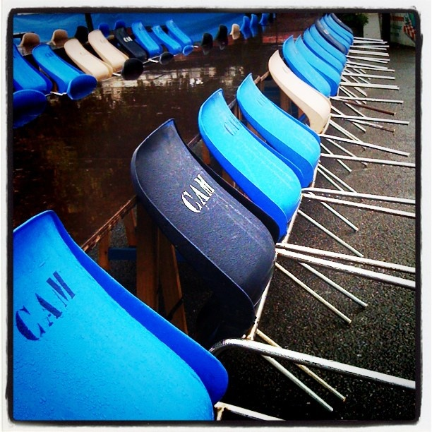 #chairs #blue