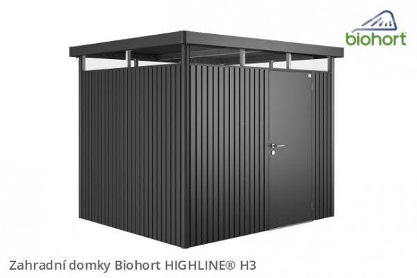 Zahradní domek HIGHLINE® H3, tmavě šedá metalíza     - Kliknutím zobrazíte detail obrázku.