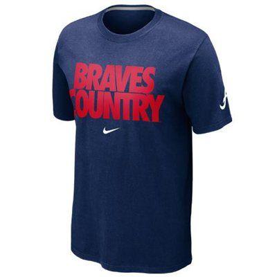 Nike Atlanta Braves Braves Country Local T-Shirt - Navy Blue