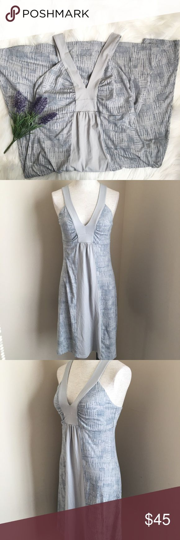 "Patagonia Lightweight Sporty Grey Athletic Dress Stretchy sporty dress. Lightweight and perfect for travel. Great Condition. 14 1/2"" Armpit to Armpit. 15"" Waist. 35"" Long. Measurements taken while laying flat. Patagonia Dresses"