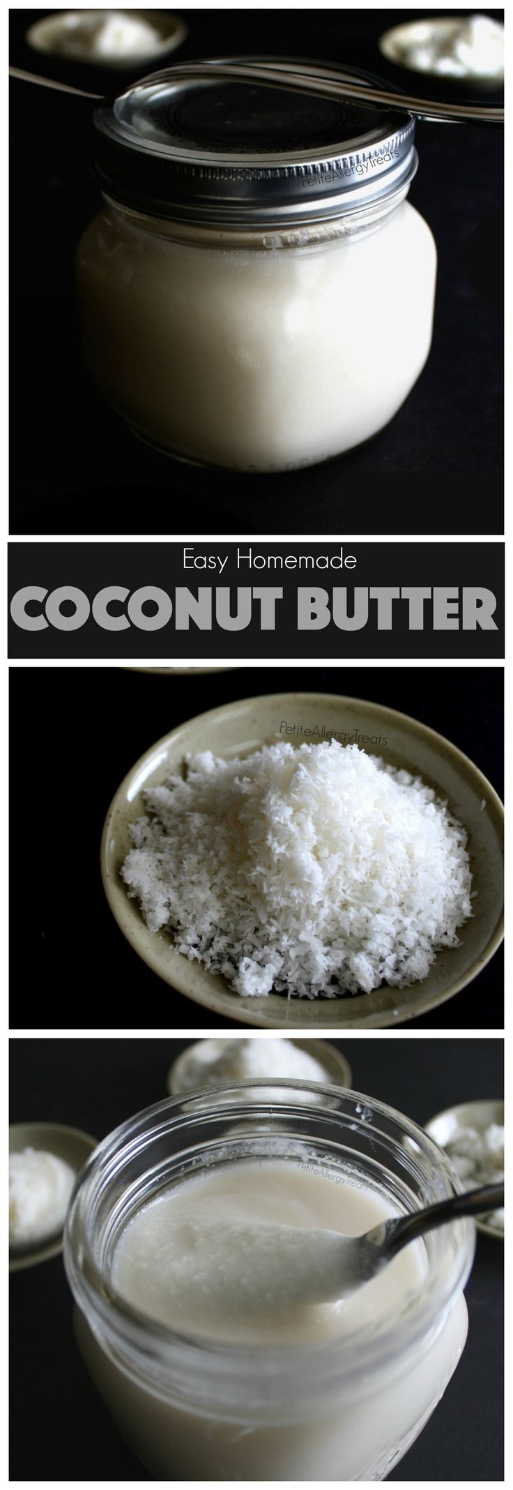 Healthy Homemade Coconut Butter Recipe (gluten free vegan raw)- Easy coconut…