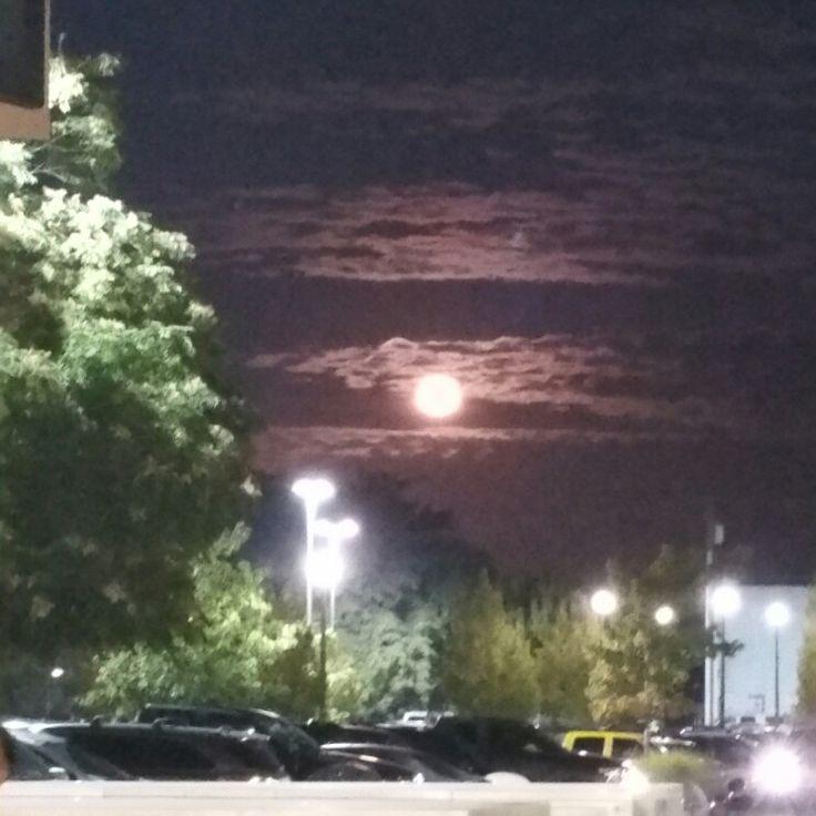 Moonlight in Puyallup Washington