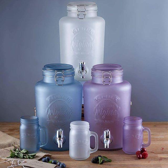 Beautiful new Kilner frosted drink dispensers and mason jars / Nádherné nové dávkovače nápojů a sklenic