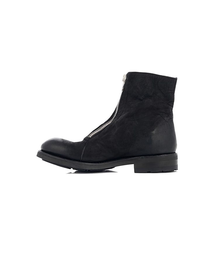 THE LAST CONSPIRACY LEATHER ANKLE BOOTS The Last Conspiracy Woman Black ankle boots with zipper calfskin black leather sole front zipper closure 100% Leather