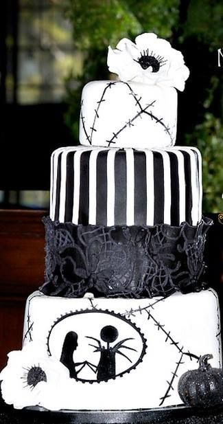 Jack Skellington U0026 Sally Wedding Cake    A Nightmare Before Christmas By  Tim Burton