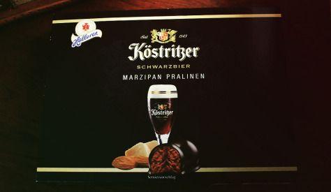 Köstritzer Schwarzbier Marzipan Pralinen -  von Halloren