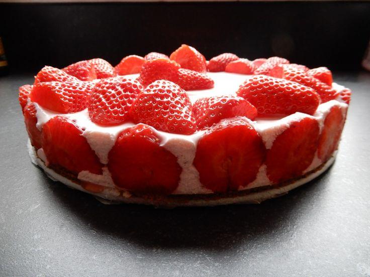 Aardbeien kwarktaart zonder pakjes en zakjes – RECEPT