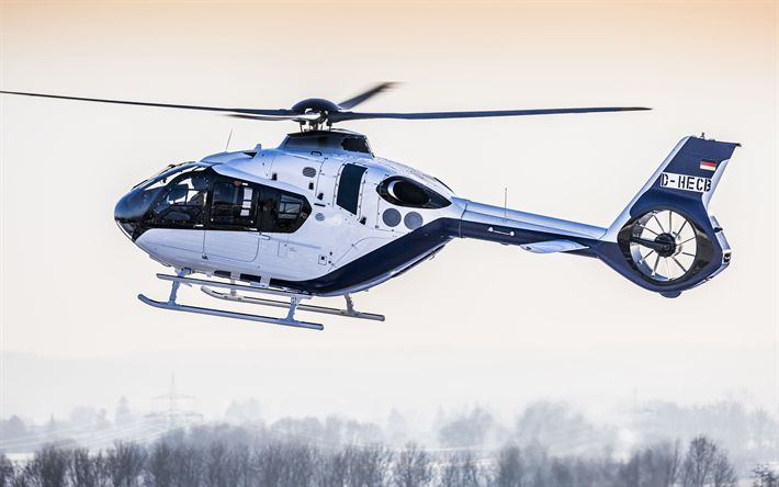 Download wallpapers Airbus Helicopters H135, Helionix, winter, Eurocopter EC135, Airbus