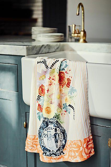 Post-Impressionism Tea Towel #anthrofave #anthropologie
