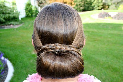 Braid-Wrapped Chignon {Back}: Chignons, Hair Tutorials, Braids Wraps, Buns Hairstyles, Little Girls Hairstyles, Style Hair, Cute Girls Hairstyles, Hair Style, Hair Trends