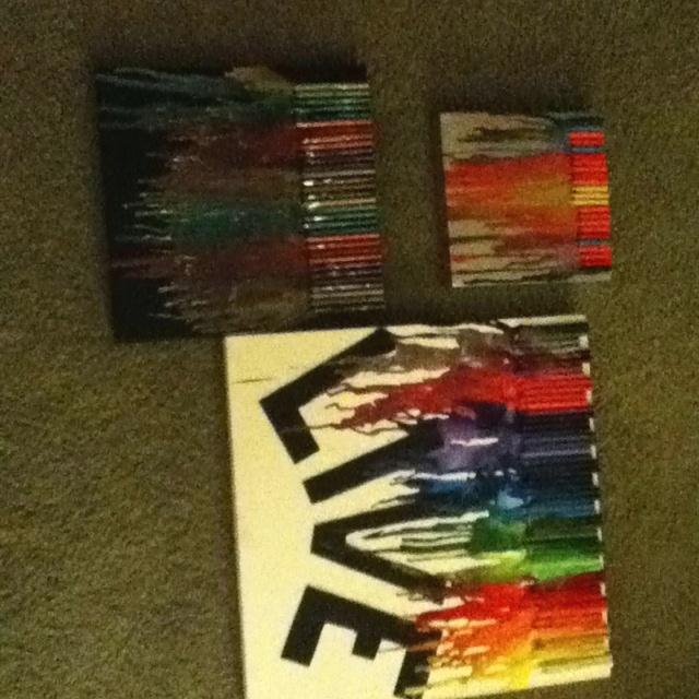DIY crayon melt trio