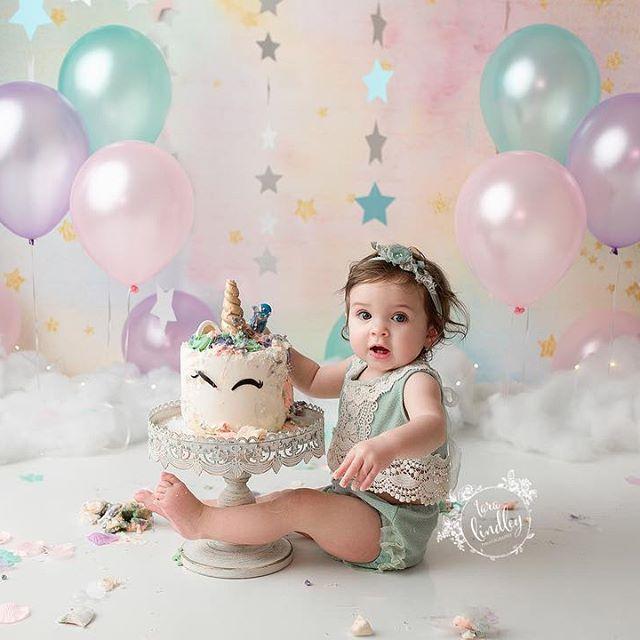 Magnificent Fairytale 1St Birthday Cake Smash Photoshoot With Unicorn Cake Funny Birthday Cards Online Aeocydamsfinfo