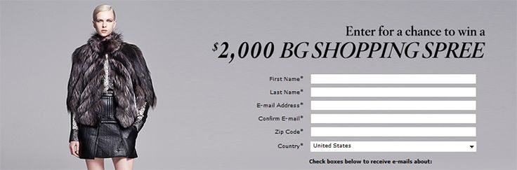 $2,000 Bergdorf Goodman Promotional Gift Card Sweepstakes