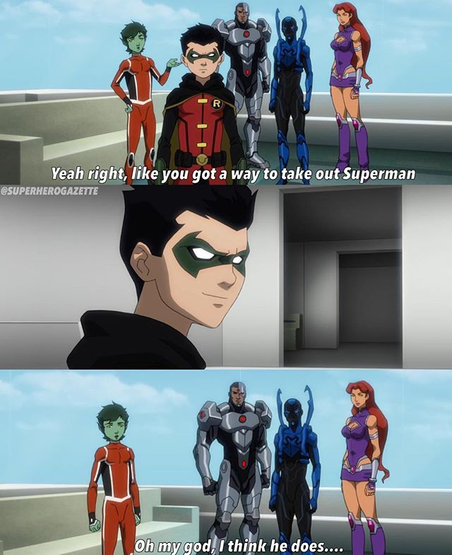 First full trailer to Justice League VS Teen Titans revealed and oh boy Damian is really his fathers son. These movies have done great developing Damian also in Batman Bad Blood we saw that Nightwing is dating at least at the time of that movie Starfire.