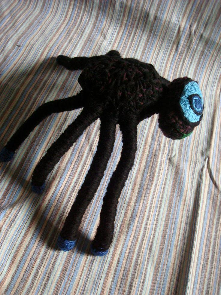 araña negra cíclope