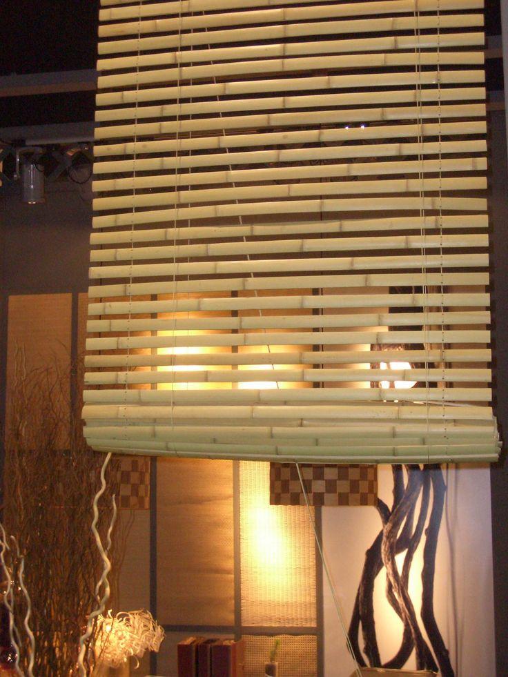 estor plegable de bamb abitare decoracin - Estores De Bambu