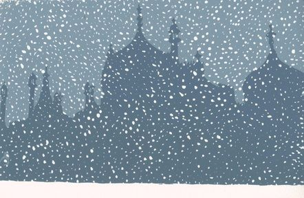 Brighton Pavillion in the Snow by Ian Scott Massie