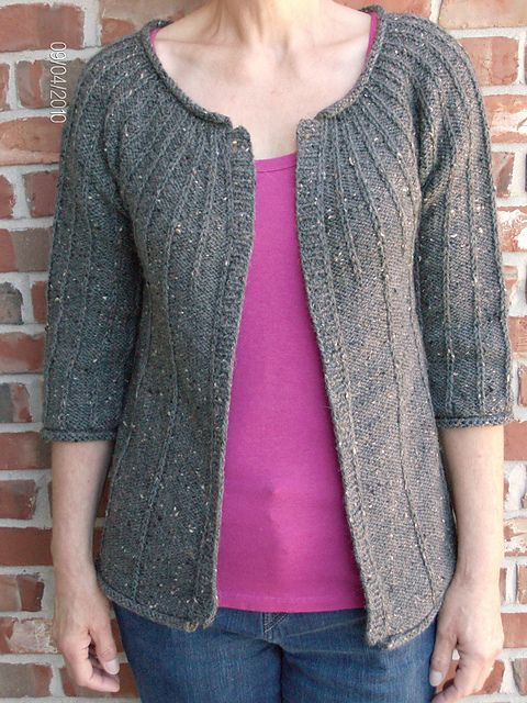 Top down knit - easy knit - free pattern, just have to follow a few links